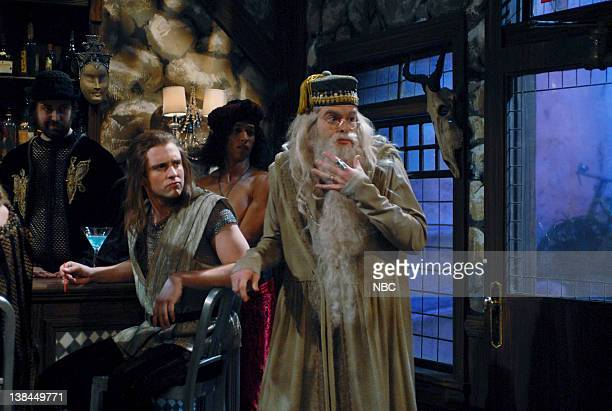 LIVE Episode 4 Aired Pictured Bill Hader as Dumbledore during 'Larry King Live' skit