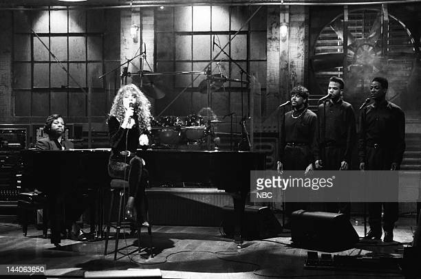 Musical guest Mariah Carey performs on October 27 1990