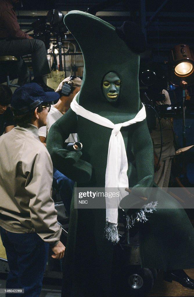 Tim Kazurinsky as Hymie Eddie Murphy as Gumby during 'The Gumby Story' skit on November 5 1983