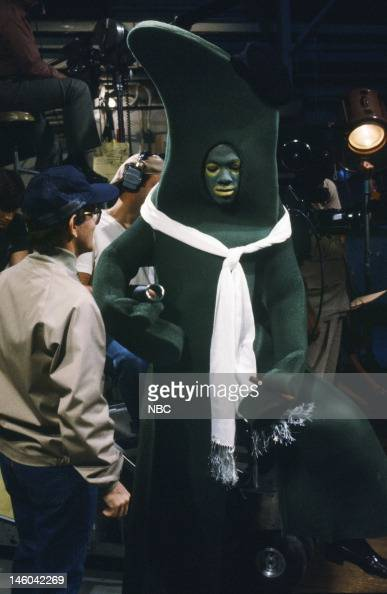 Tim Kazurinsky as Hymie Eddie Murphy as Gumby during 'The Gumby Story' skit on November 5 1983