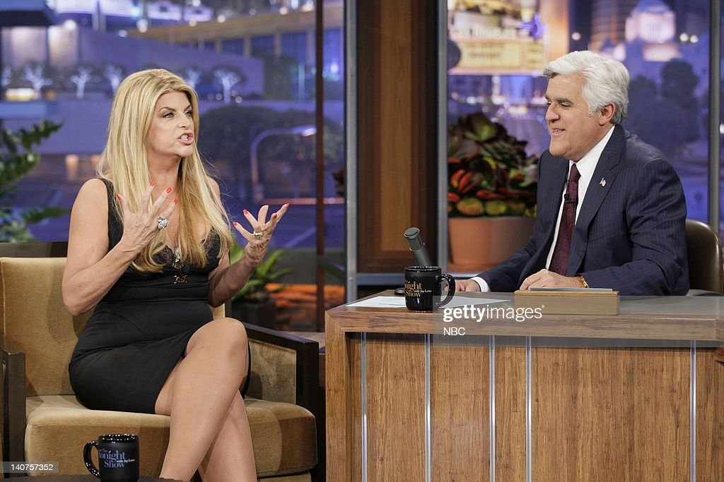Actress Kirstie Alley during an interview with host Jay Leno on May 20 2011 Photo by Paul Drinkwater/NBC/NBCU Photo Bank