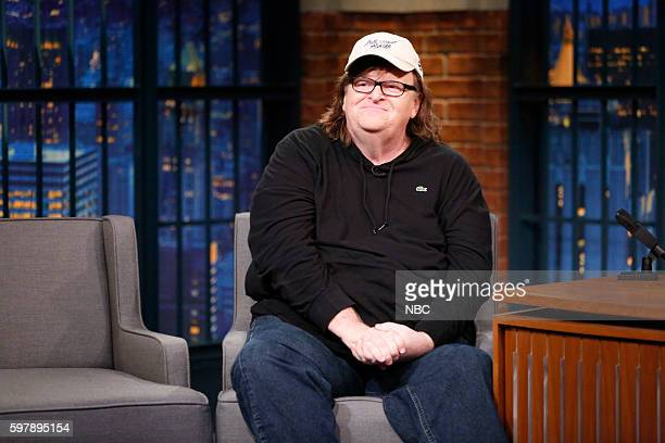 Director Michael Moore during an interview on August 29 2016
