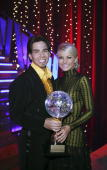 STARS 'Episode 410A' The Olympic gold medalwinning speed skater Apolo Anton Ohno was crowned champion and awarded the coveted mirror ball trophy with...