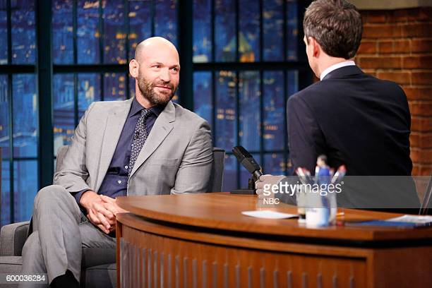 Actor Corey Stoll during an interview with host Seth Meyers on September 7 2016