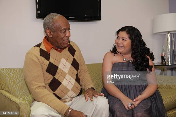 LENO Episode 4156 Pictured Actor/comedian Bill Cosby backstage with actress Raini Rodriguez on November 30 2011 Photo by Paul Drinkwater/NBC/NBCU...