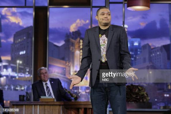 Comedian Trevor Noah performs on January 6 2012 Photo by Paul Drinkwater/NBC/NBCU Photo Bank