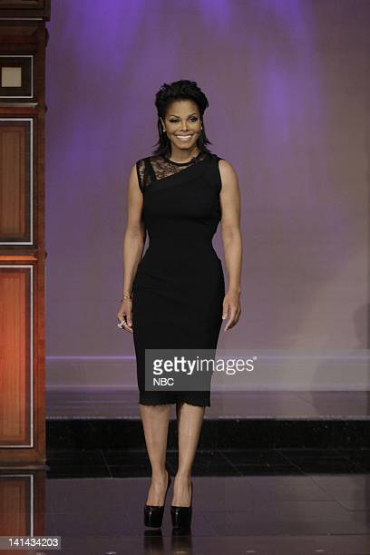 Singer/actress Janet Jackson arrives on January 9 2012 Photo by Paul Drinkwater/NBC/NBCU Photo Bank