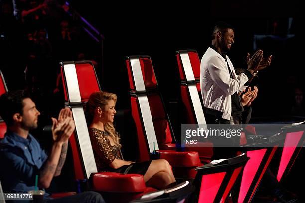 THE VOICE Episode 417A 'Live Show' Pictured Adam Levine Shakira Usher Blake Shelton