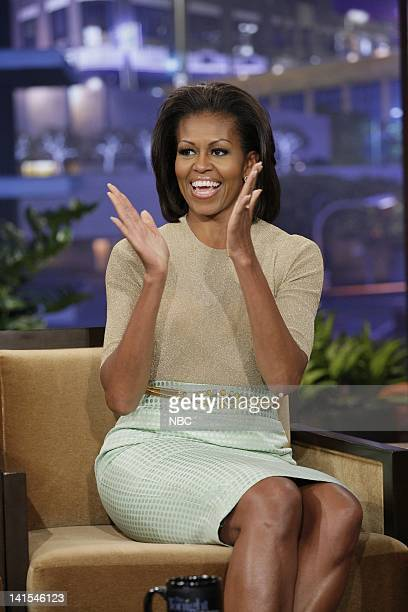 First lady Michelle Obama during an interview on January 31 2012 Photo by Stacie McChesney/NBC/NBCU Photo Bank