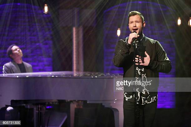Singer Calum Scott performs on September 14 2016