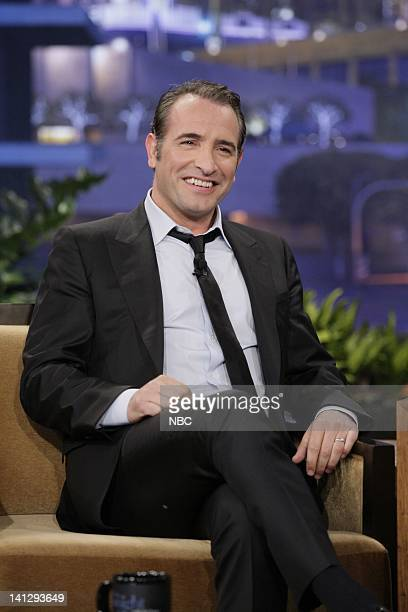 Actor Jean Dujardin during an interview on February 3 2012 Photo by Stacie McChesney/NBC/NBCU Photo Bank