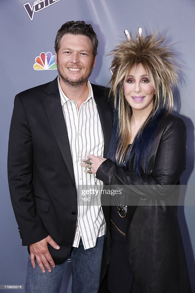 THE VOICE -- Episode 419B 'Live Finale' -- Pictured: (l-r) Blake Shelton, Cher --