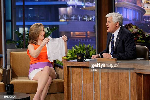 TV personality Meredith Vieira during an interview with host Jay Leno on February 23 2012
