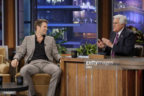 Actor Geoff Stults during an interview with host Jay Leno on March 2 2012