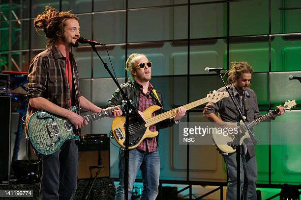 Musical guests Soja perform on March 12 2012