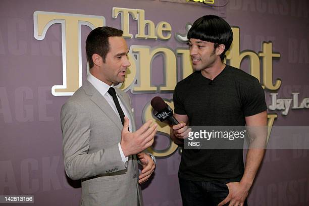 LENO Episode 4235 Pictured Actor Chris Diamantopoulos during an interview with Bryan Branly backstage on April 12 2012