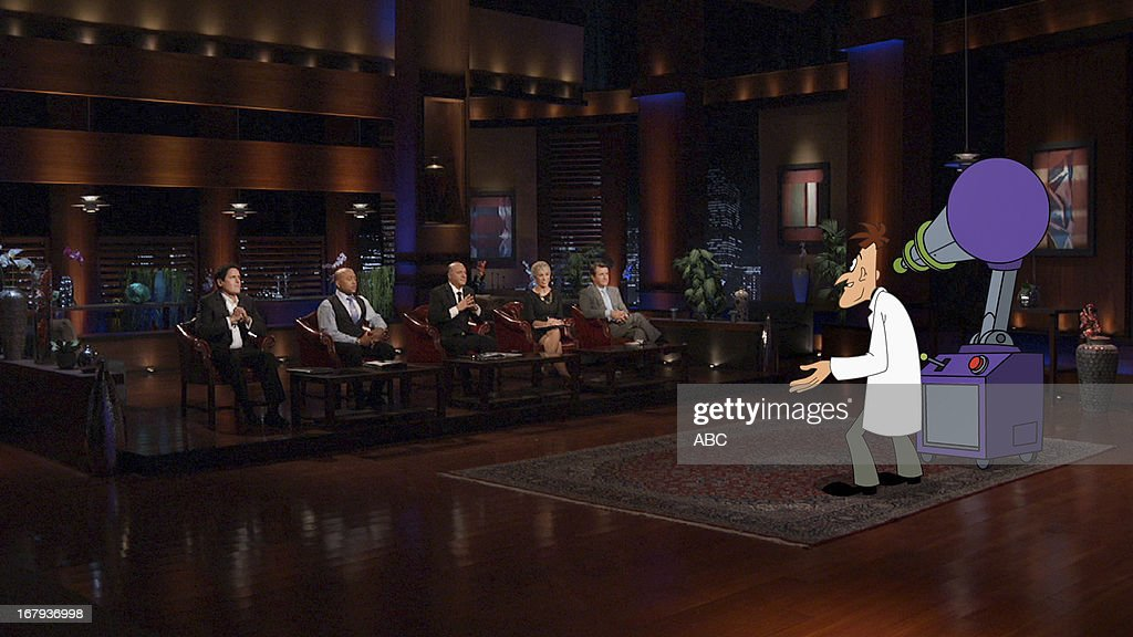 TANK - 'Episode 424' - In the first 'Shark Tank' Extra, a clip of the pitch from 'Phineas and Ferb's' nefarious Dr. Heinz Doofenshmirtz will air during the show. The evil scientist comes to the Tank with an opportunity for the Sharks to invest in his latest 'inator' invention. The full three-minute video can be seen beginning Friday, May 17 on ABC.com, You Tube, YouTube/ABC Network, Disney.com and YouTube/Disney. MARK CUBAN, DAYMOND JOHN, KEVIN O