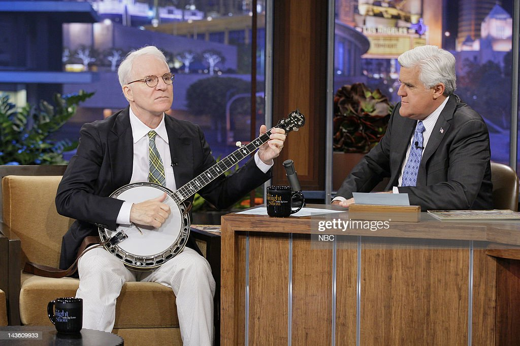 Actor Steve Martin during an interview with host Jay Leno on April 30 2012