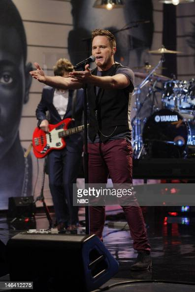 Musical guest Olly Murs performs on June 15 2012