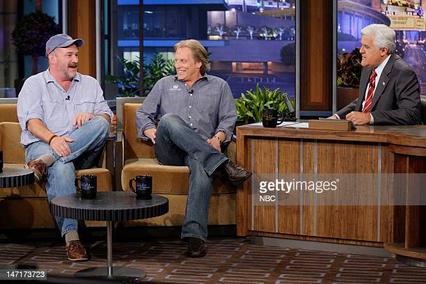 Deadliest Catch's Capt Keith Colburn and Capt Sig Hansen during an interview with host Jay Leno on June 26 2012