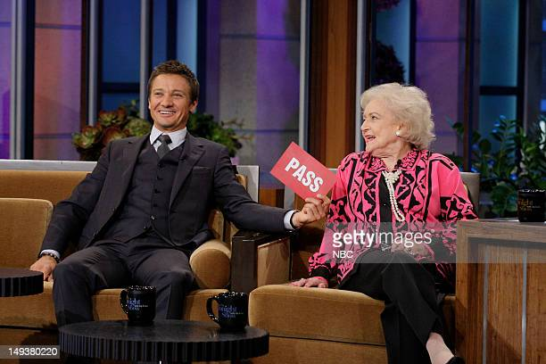 Actor Jeremy Renner and actress Betty White during an interview on July 27 2012