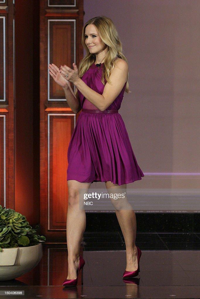 Actress Kristen Bell arrives on August 16, 2012 --