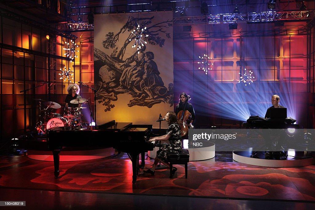 Musical guest Regina Spektor performs on August 16, 2012 --