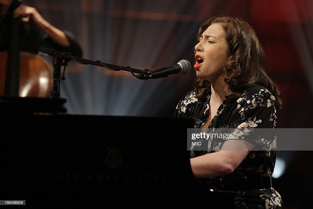 Musical guest Regina Spektor performs on August 16, 2012 --