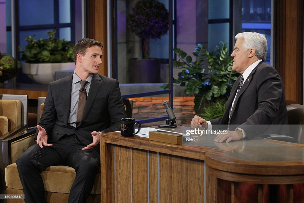 Olympic swimmer Ryan Lochte during an interview with host Jay Leno on August 16, 2012 --