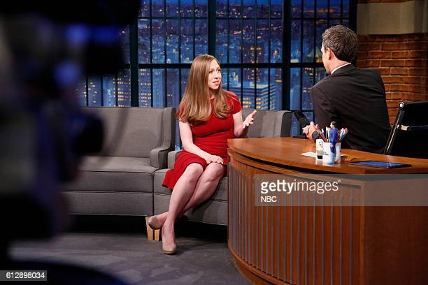 Chelsea Clinton during an interview with host Seth Meyers on October 5 2016