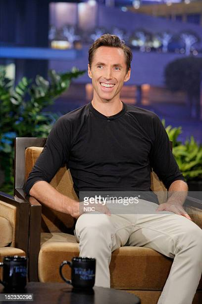 Professional basketball player Steve Nash during an interview on September 18 2012