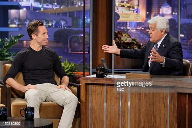Professional basketball player Steve Nash during an interview with host Jay Leno on September 18 2012