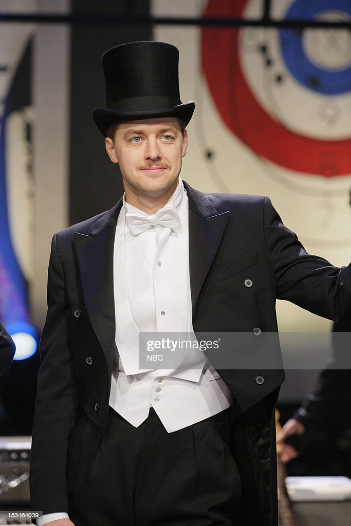 Nicholaus Arson (Niklas Almqvist) of musical guests The Hives on October 5, 2012 --