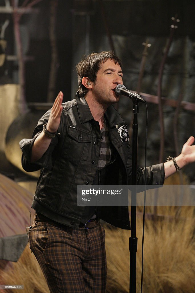 Musical guest Tom Higgenson of Plain White T's performs on October 9, 2012 --