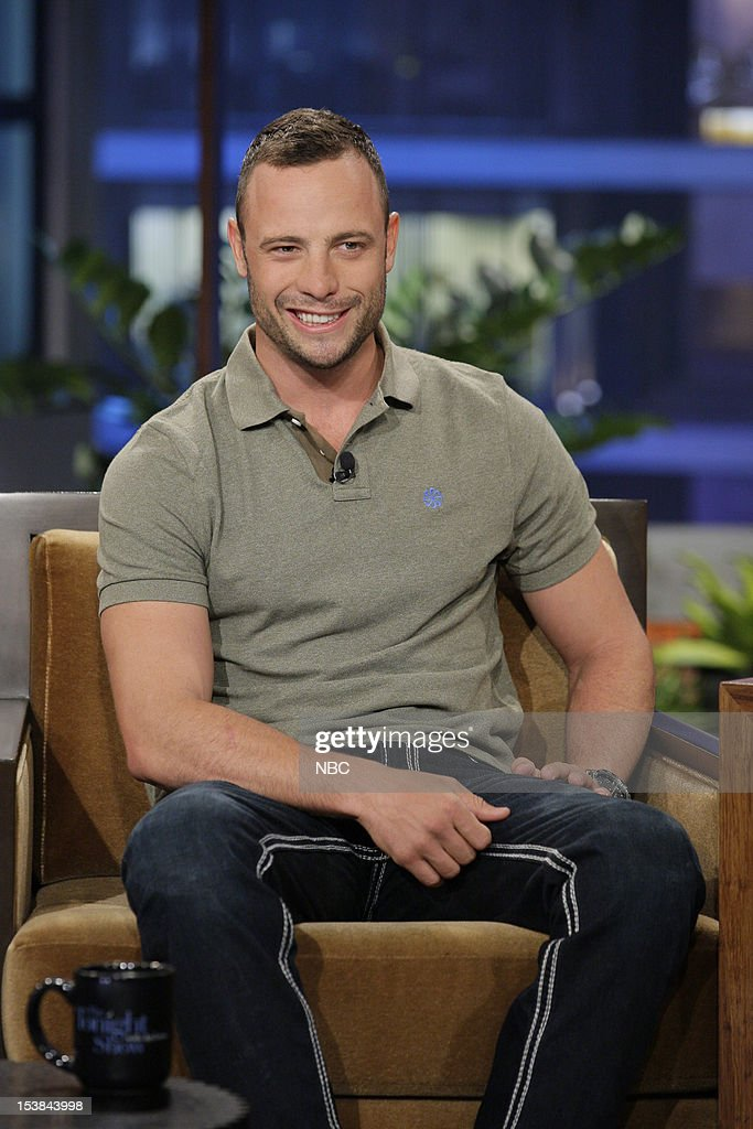 Olympian Oscar Pistorius during an interview on October 9, 2012 --