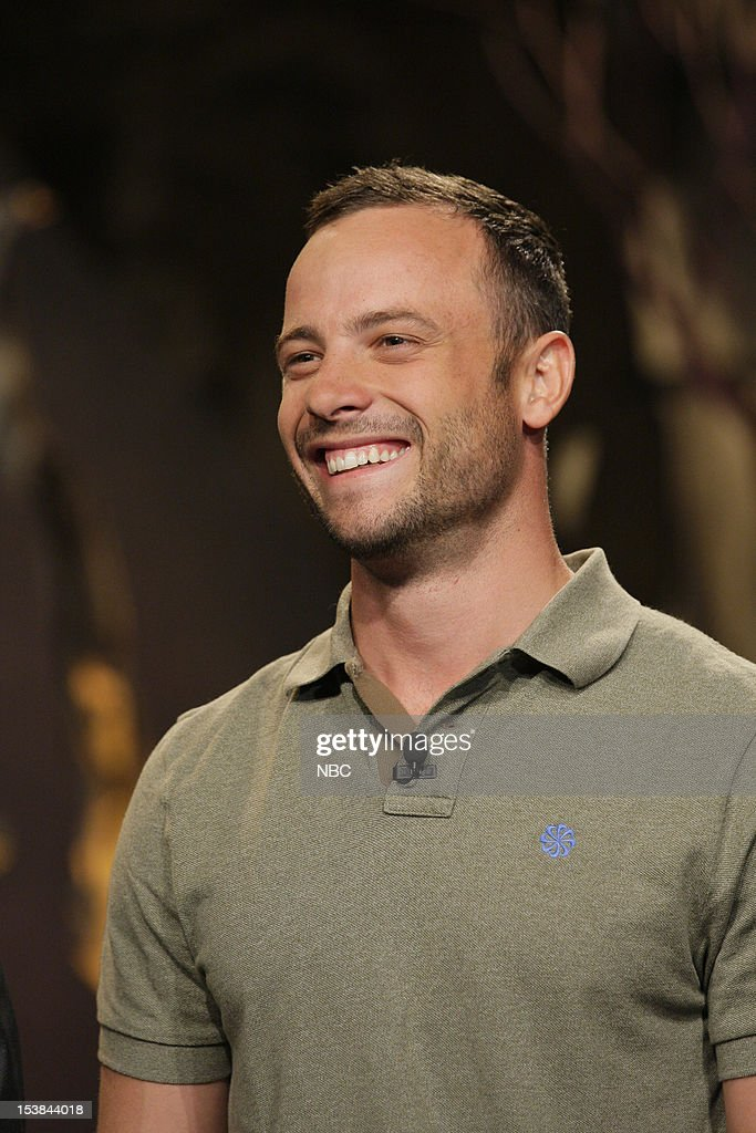 Olympian <a gi-track='captionPersonalityLinkClicked' href=/galleries/search?phrase=Oscar+Pistorius&family=editorial&specificpeople=224406 ng-click='$event.stopPropagation()'>Oscar Pistorius</a> onstage October 9, 2012 --