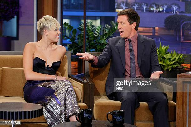 Miley Cyrus Rove McManus during an interview on October 12 2012
