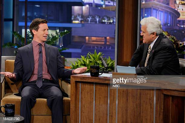 Rove McManus during an interview with host Jay Leno on October 12 2012