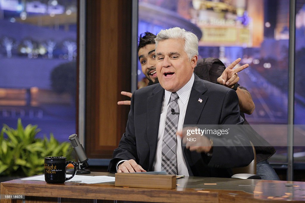 Host <a gi-track='captionPersonalityLinkClicked' href=/galleries/search?phrase=Jay+Leno+-+Television+Host&family=editorial&specificpeople=156431 ng-click='$event.stopPropagation()'>Jay Leno</a>, World Series winner <a gi-track='captionPersonalityLinkClicked' href=/galleries/search?phrase=Sergio+Romo&family=editorial&specificpeople=5433590 ng-click='$event.stopPropagation()'>Sergio Romo</a> on November 1, 2012 --