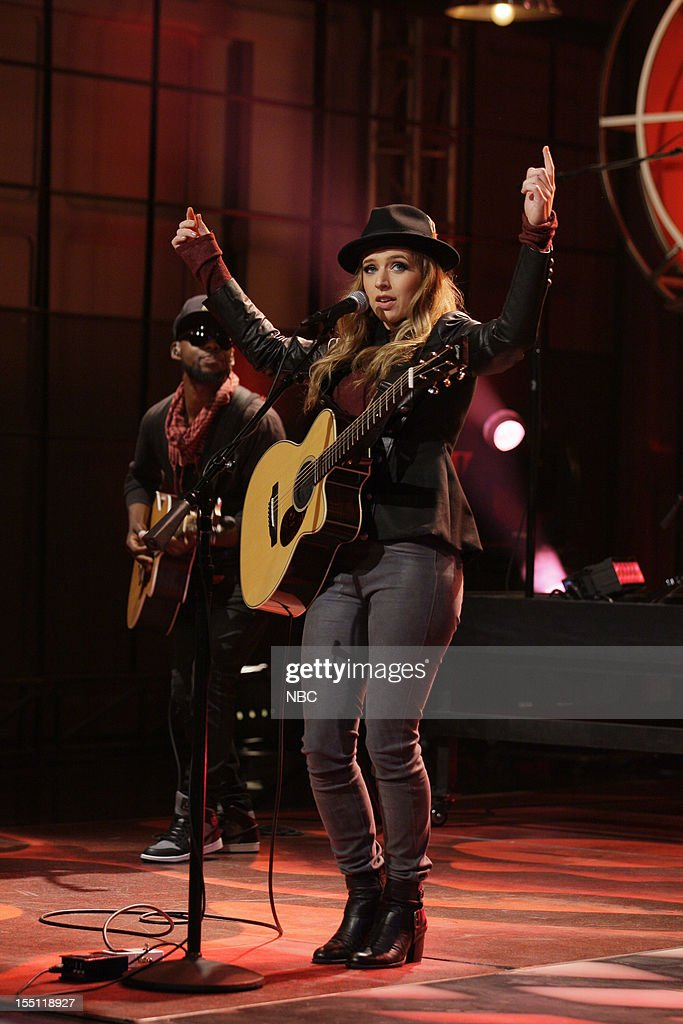 Musical guest ZZ Ward performs on November 1, 2012 --