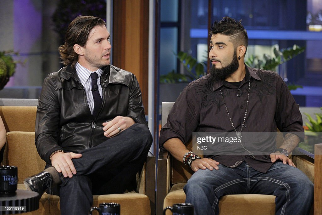 World Series winners Barry Zito and Sergio Romo during an interview on November 1, 2012 --
