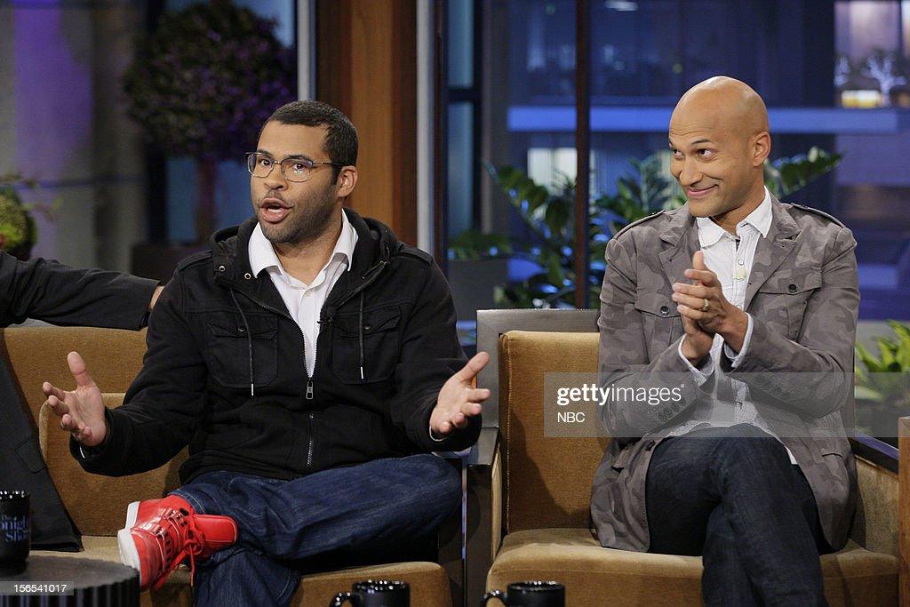 Jordan Peele and Keegan-Michael Key during an interview on November 16, 2012 --
