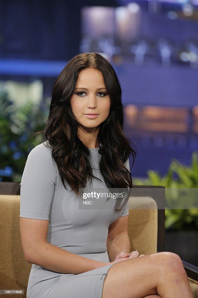 Actress Jennifer Lawrence during an interview on November 19, 2012 --