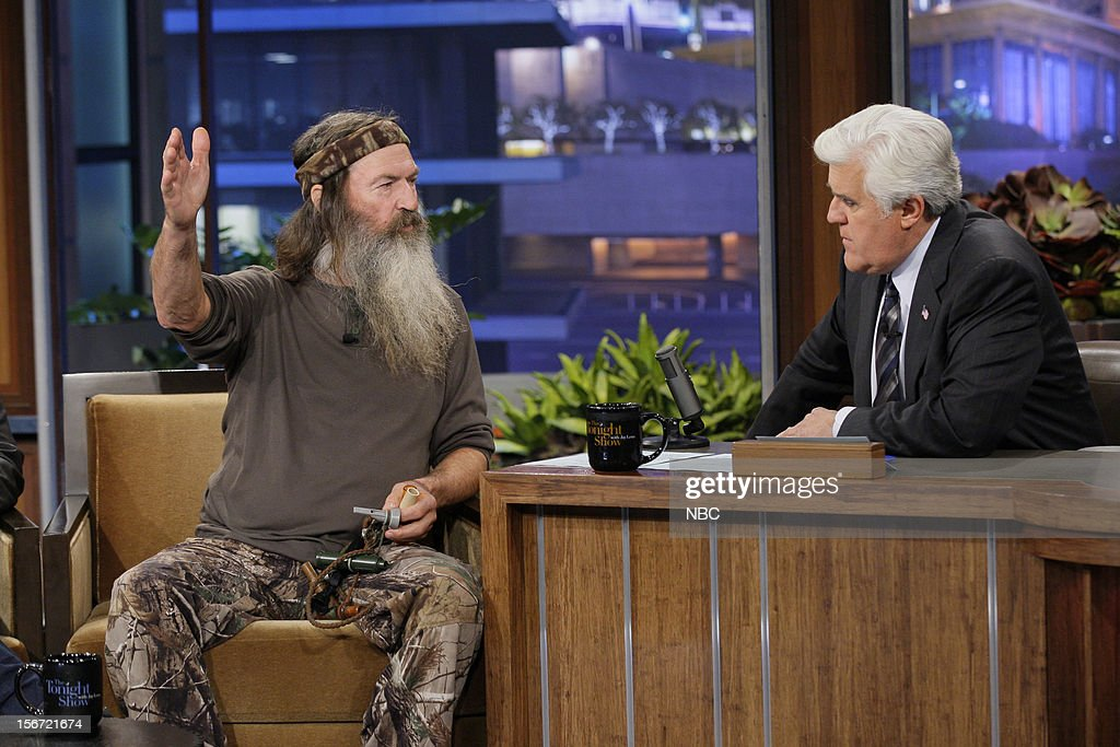 Phil Robertson during an interview with host Jay Leno on November 19, 2012 --