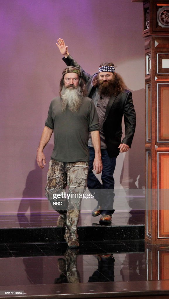 Willie and <a gi-track='captionPersonalityLinkClicked' href=/galleries/search?phrase=Phil+Robertson&family=editorial&specificpeople=4043277 ng-click='$event.stopPropagation()'>Phil Robertson</a> arrive on November 19, 2012 --
