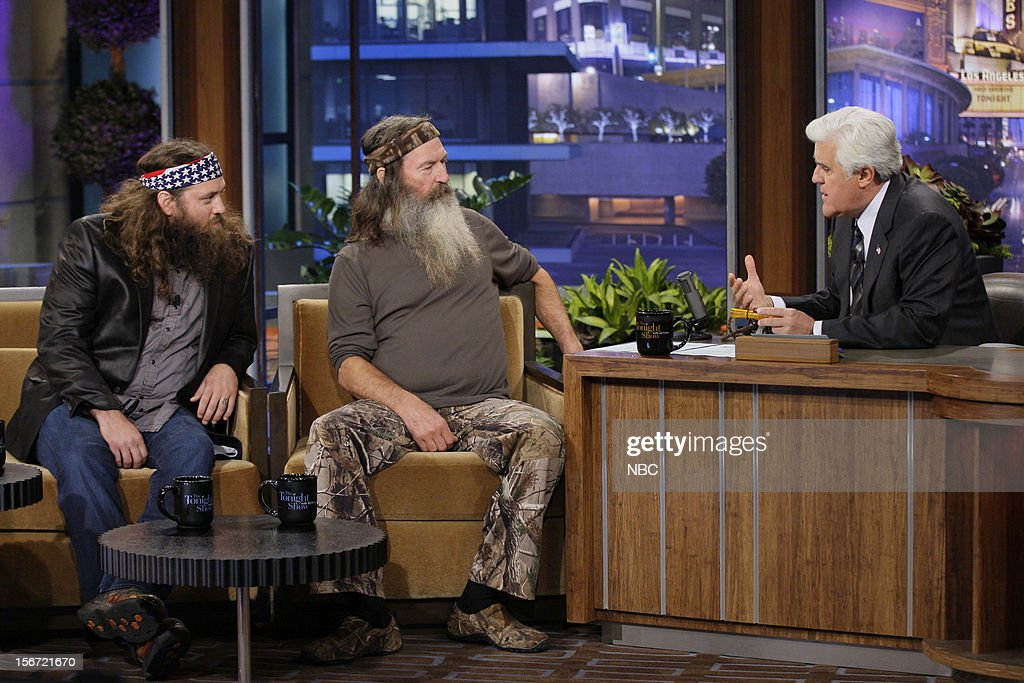 Willie and Phil Robertson during an interview with host Jay Leno on November 19, 2012 --