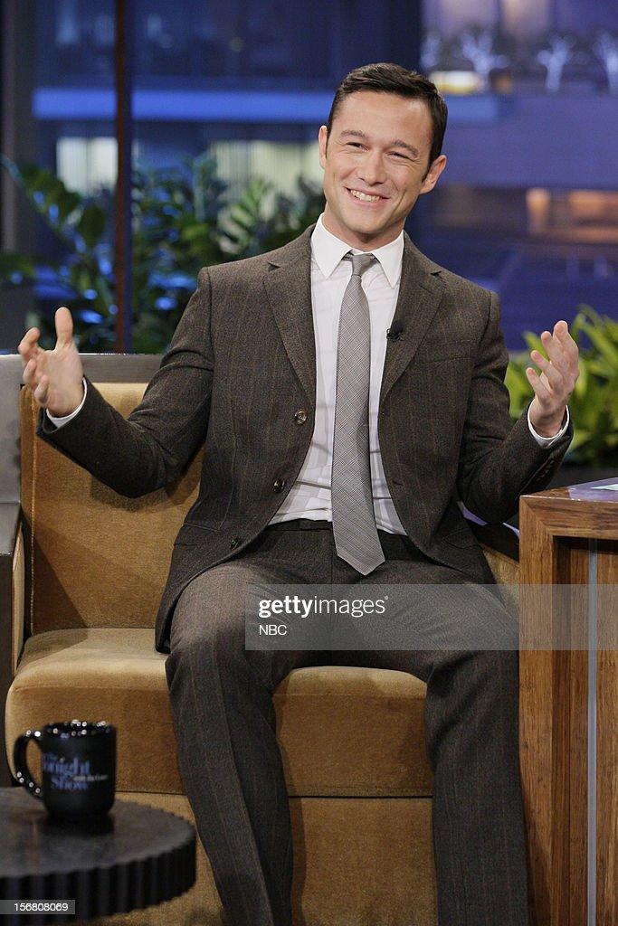 Actor Joseph Gordon-Levitt during an interview on November 20, 2012 --
