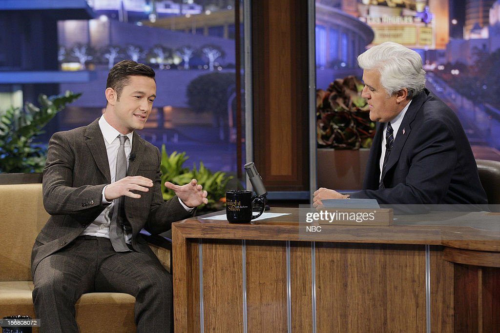 Actor Joseph Gordon-Levitt during an interview with host Jay Leno on November 20, 2012 --