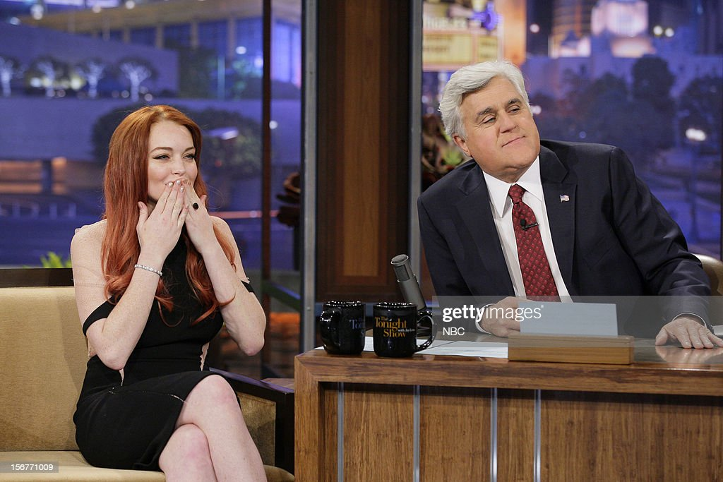 Actress Lindsay Lohan during an interview with host Jay Leno on November 20, 2012 --