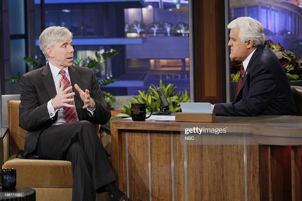 David Gregory during an interview with host Jay Leno on November 20, 2012 --